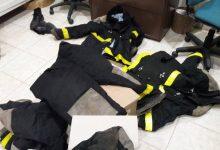Donación de trajes para los Bomberos de Hersilia