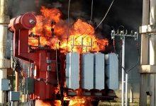Incendio en la estación transformadora Arrufó