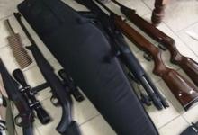 Secuestro de ARMAS DE FUEGO Y DETENCIÓN DE 5 MASCULINOS DE HERSILIA