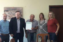 El Senador Michlig entregó aportes de Obras Menores en la localidad de Hersilia