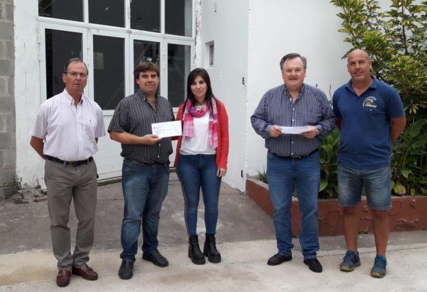 El Senador Michlig visitó Hersilia entregó aportes institucionales y relevó obras en marchas
