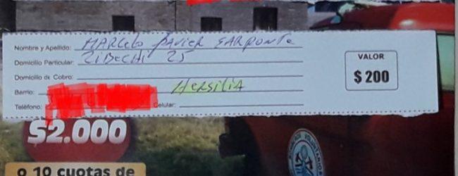 Sorteo Rifa Bomberos Voluntarios de Hersilia