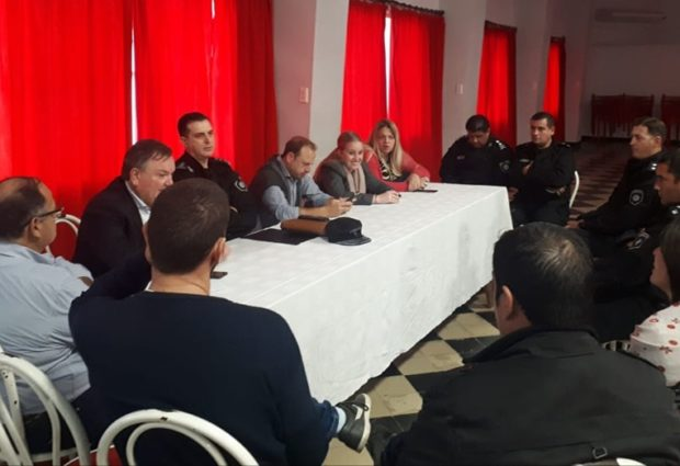 Reunión de Autoridades Policiales y Políticas en Ceres