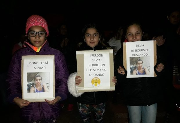 Vecinos se movilizaron pidiendo por la aparición de Silvia Quinteros